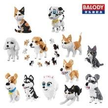 Balody diamant blocs chien modèle petites briques teckel jouet assemblée brinquedos action figure enfants cadeaux jouets pour enfants 16014