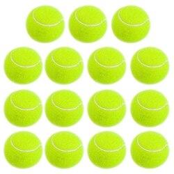 Pelotas de tenis de práctica, entrenamiento sin presión, pelotas de tenis de goma suave, pelotas de tenis para principiantes, paquete de 15