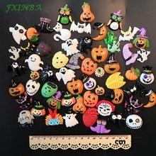 FXINBA 10pcs Halloween/Christmas Festival Slime Charms DIY Phone Decor Resin Flatback Lizun Clay Supplies Toys