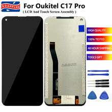 "KOSSPLHZ עבור Oukitel C17 Pro LCD תצוגת מסך מגע Digitizer פנל הרכבה החלפת Oukitel C17Pro טלפון סלולרי 6.35 ""מסך"