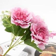 1 Букет пионов искусственные цветы аксессуары для украшения