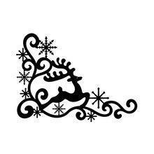 InLoveArts Snowflake Deer Lace Edge Metal Cutting Dies for Scrapbooking Decorative Embossing Handcraft Stencils Die