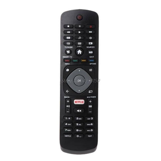 Mando a distancia negro de repuesto para Philips NETFLIX Smart 398GR08BEPHN0012HT 1635008714 43PUS6162 398GR08BEPHN0011HL