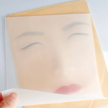 New Product Transparent Silicone Tattoo Eyebrow Lip Practice Skin Tool Permanent
