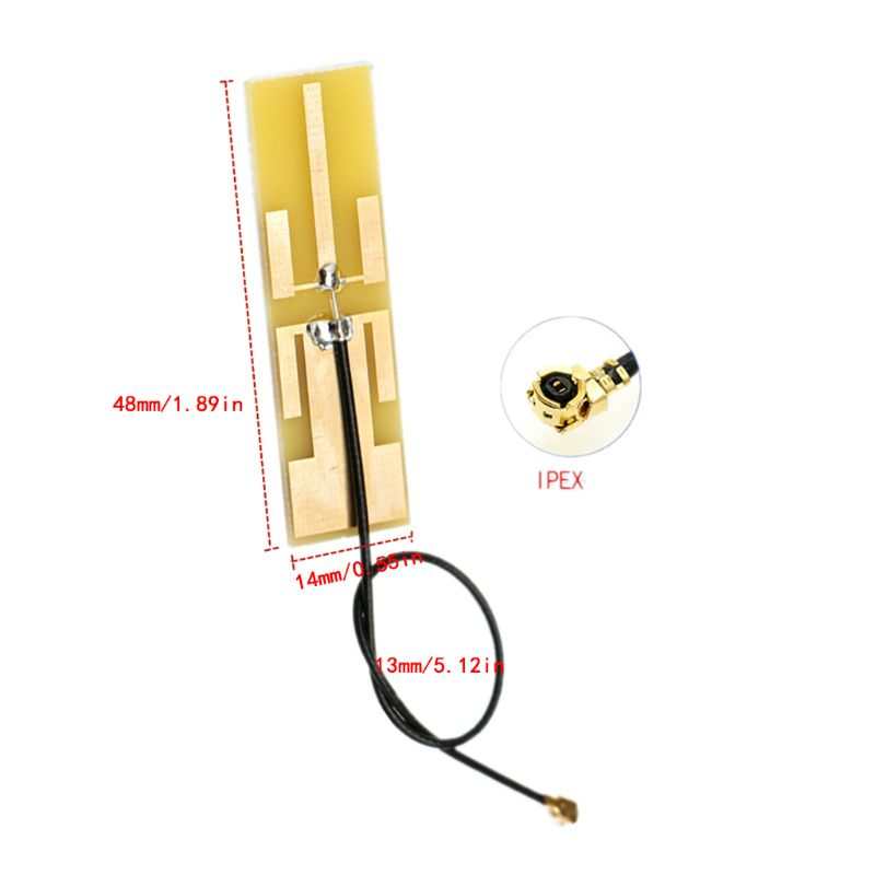 2.4G/5.8G Dual Band Antenna 8DBI High Gain Internal PCB Aerial For WiFi Router J6PA
