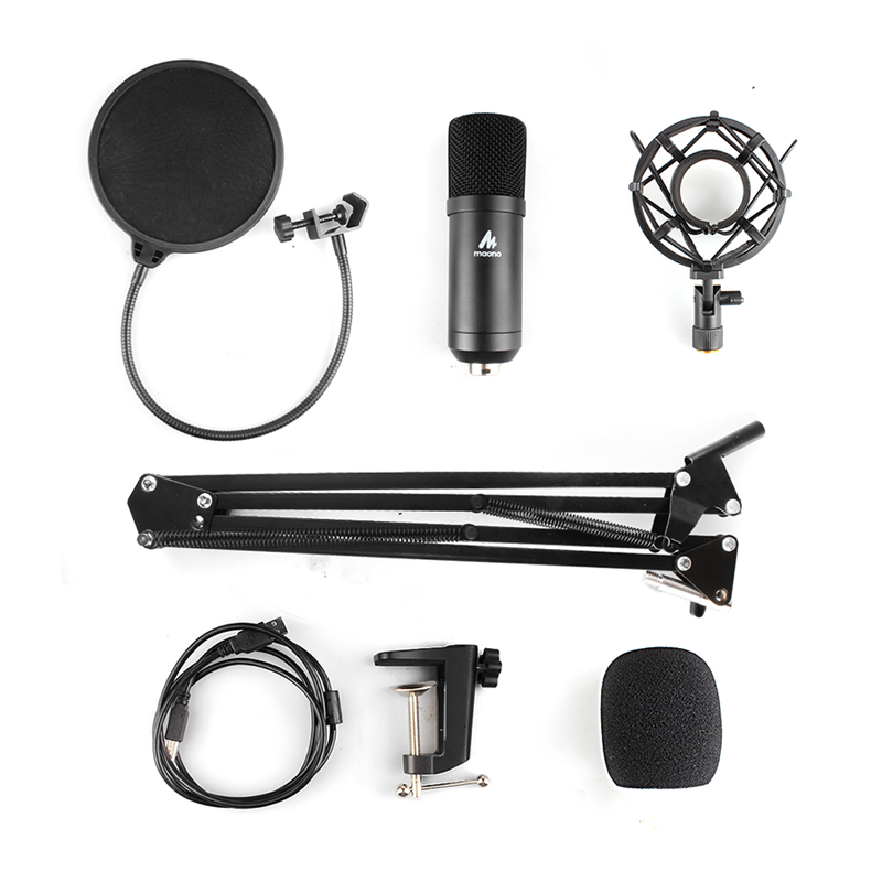 MAONO AU-A04 USB Microphone Kit 192KHZ/24BIT Professional Podcast Condenser Mic for PC Karaoke Youtube Studio Recording Mikrofon title=