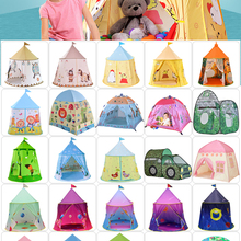 Tents Playhouses Outdoor Children Castle Gift Courtyard Foldable Princess-Prince Kids