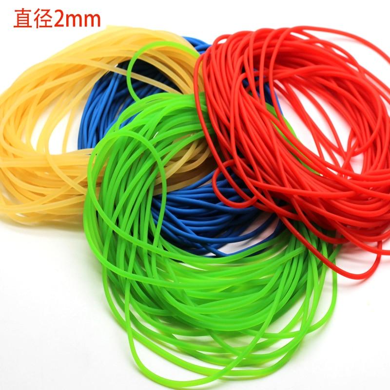 Linha de borracha elástica sólida de borracha de 2mm 10m linha de borracha para a pesca tradicional nível redondo corda elástica amarrada linha de peixes