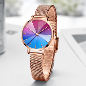 Image 5 - Ladies Watch CIVO 2020 New Listing Fashion Rainbow Watches Women Top Brand Luxury Waterproof Female Girl Gift Quartz Clock 8111