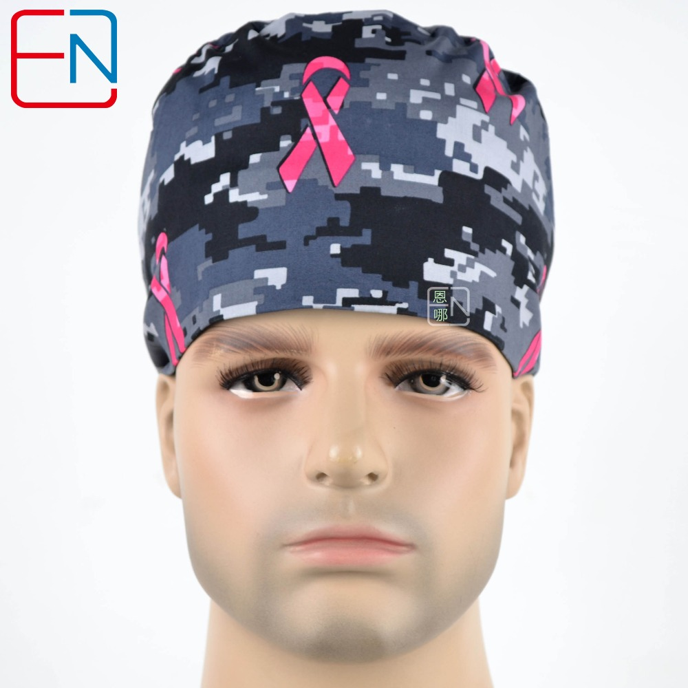 Hennar Surgical Scrub Caps Masks Tie Back With Elastic Bands Fit For All Sizes Head Caps Doctor Nurse Medical Accessories Caps