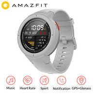 """AMAZFIT Verge GPS inteligentny zegarek IP68 wodoodporny 1.3 """"ekran amoled odbieranie połączeń inteligentny zegarek z funkcją pomiaru rytmu serca Multi Sports Global Version"""