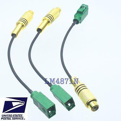 DHL/EMS 15pcs Cable RCA TV Female To Fakra E 6002 Green SMB Jack RG174 6