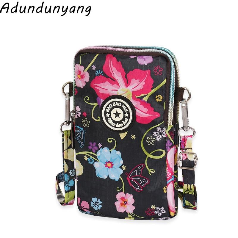 Wholesale Women Mini Mobile Phone Bag Female Diagonal Crossbody Bag Ladies Shoulder Bag Children Canvas Coin Purse