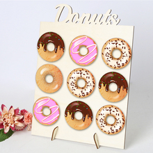 DIY Donuts Stands Board Wall Wooden Doughnuts Display Holder for Wedding Kids Birthday Home Party Decoration Racks