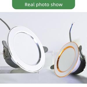 Image 5 - Kaguyahime 1/4 個ダウン 3000 18k 4500 18K 6000 18K LED スポットライト 5 ワット屋内凹型ランプ AC 220V LED スポットライトゴールドシルバー表面