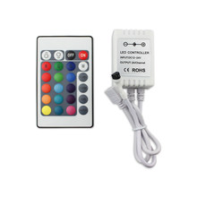 Contrôleur de bande lumineuse led sans fil, logiciel de contrôle à distance 24 touches, IR RGB DC12-24V, simple, bluetooth
