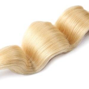 Image 4 - Brazilian Body Wave Blonde Hair Extensions MS Lula 30 Inch Bundles 100% Human Hair Weave Remy 613 Hair Bundles Free Shipping