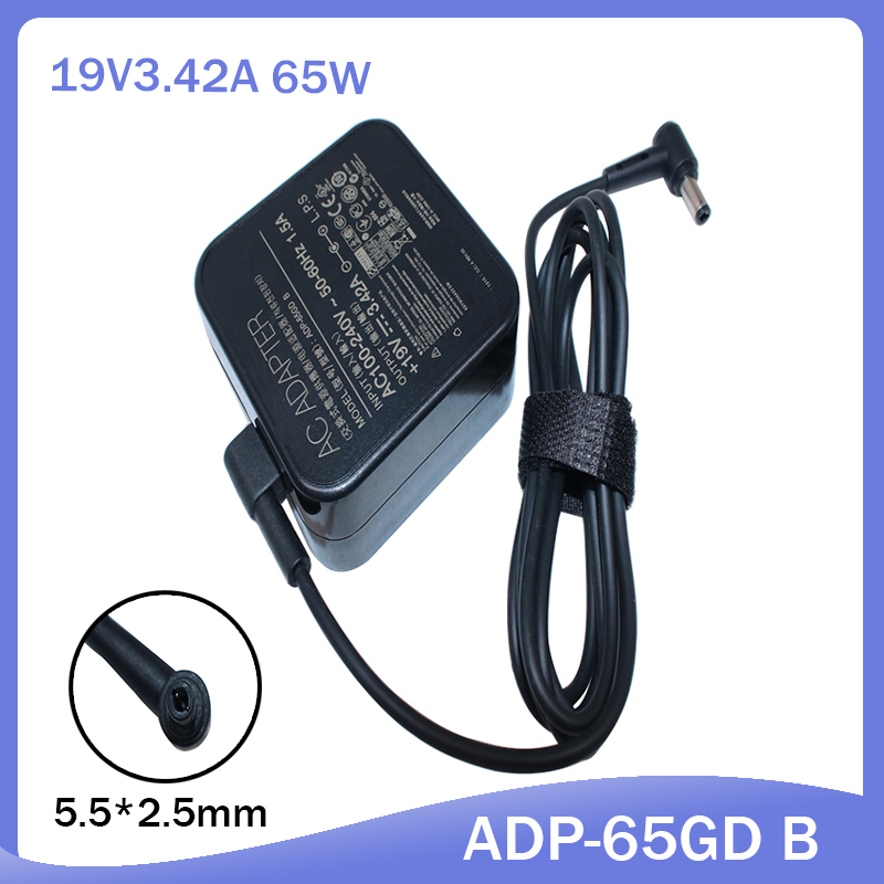 19V 3.42A 5.5*2.5mm Charger Power Supply Original AC Laptop Adapter For Asus PA-1650-78 PA-1650-48 ADP-65GD B ADP-65AW A