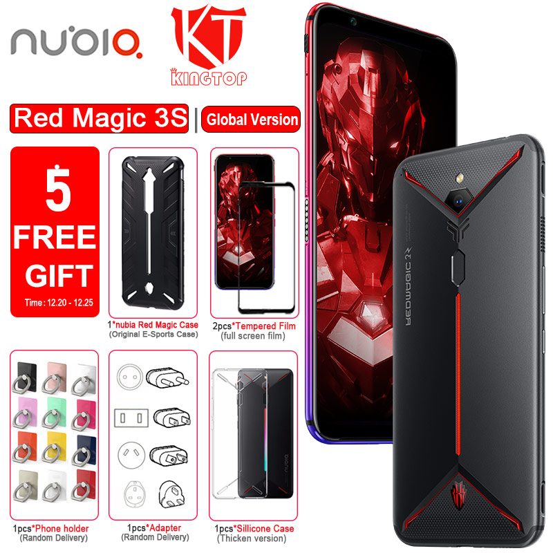Global Version Original ZTE Nubia Red Magic 3S Mobile Phone 8G 128G 6.65