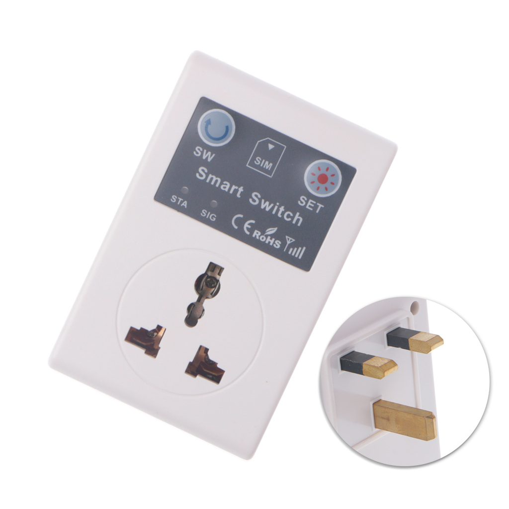 2020 nuevo UE/Reino Unido 220V teléfono RC Control remoto inalámbrico interruptor inteligente GSM enchufe de alimentación