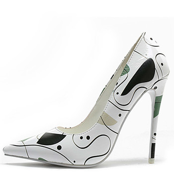 YECHNE vrouwen Hoge Hakken Schoenen Sexy Vrouw Bridal Hakken Plus Size Wees Teen Witte Bruiloft Pompen Partij Stiletto 12 cm