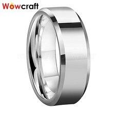 6 мм 8 Мужские и женские оригинальные кольца из карбида вольфрама
