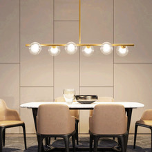 Nordic Modern Minimalist creativity Glass Ball Chandeliers Led lamp for Living Room Bedroom Dining Room Foyer Free shipping