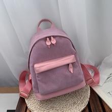 Canvas Rucksack Travel-Bag Mini Backpack Small Women Mochila Shoulder-Bag Female Luxury
