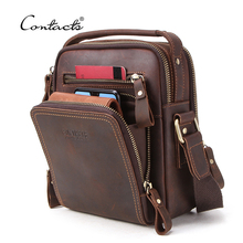 CONTACT'S Genuine leather men Shoulder Bags with Handle vintage large C