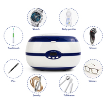 35W 600ML Ultrasonic Cleaner for Nail Tools Necklace Earrings Bracelets Dentures Household Ultrasonic Cleaning Washer Machine jewellery making jewelry watch ultrasonic mini cleaner 400ml 35w for necklace earrings bracelets dentures ultrasonic baths