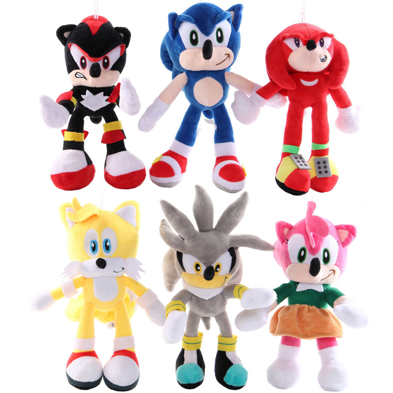 Sonic Plush Toy Dolls 283 Sonic The Hedgehog Plush Toys Anime Figure For Birthday Gift Movies Tv Aliexpress