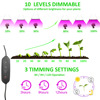 JCBritw LED Grow Light Full Spectrum Dimmable Auto On  amp  Off Timer Plant Growing Lamp for Indoor Plants Hydroponic Greenhouse promo