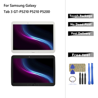 Tablet LCD For Samsung Galaxy Tab 3 GT P5210 P5210 P5200 LCD Display Touch Screen Digitizer Panel Assembly With Frame