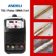 ANDELI TIG-250GP портативный однофазный инвертор постоянного тока Импульсная TIG сварка точечная Сварка Tig сварочный аппарат Интеллектуальный TIG сварочный аппарат