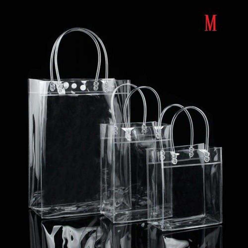 1Pcs Transparan PVC Lembut Hadiah Tote Tas Kemasan dengan Tangan Loop Plastik Tas Tangan, Tas Kosmetik Baru