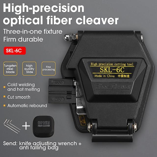 جديد الألياف الساطور SKL 6C كابل قطع سكين FTTH الألياف البصرية سكين أدوات القاطع ألياف عالية الدقة الساطور 16 سطح شفرة
