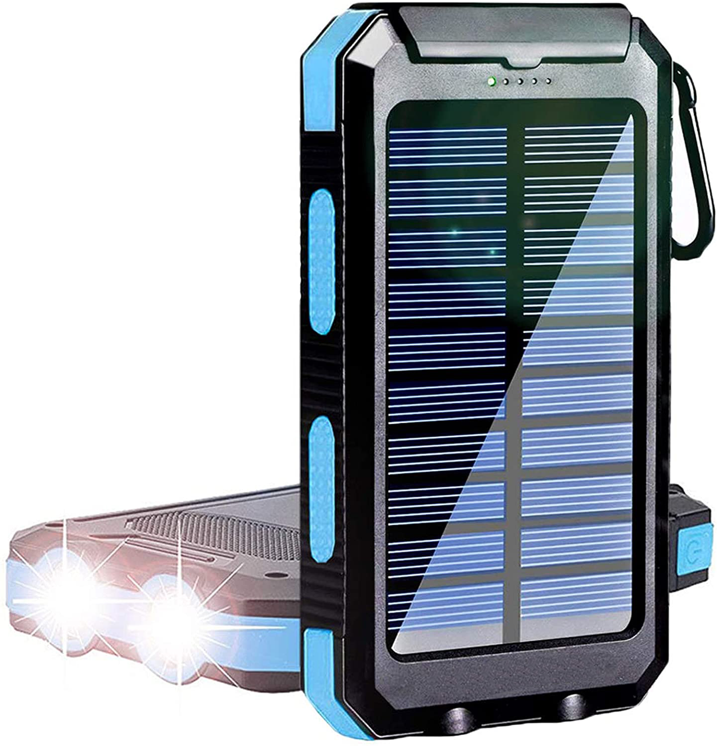 Outdoor Survival Camping Equipment 20000mAh Portable Waterproof Solar Power Charger Bank With LED Flashlights for Adventure Emer
