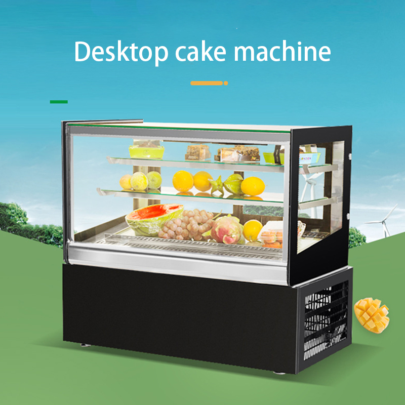 220V Commercial Cake Shop Preservation Cabinet Showcase Refrigerated Display Case Cake Cabinet Small Display Freezer 200W