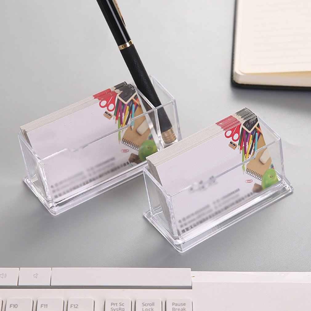 محمول واضح حامل بطاقة الأعمال عرض موقف مكتب سطح المكتب كونترتوب حامل بطاقة الأعمال مكتب صندوق الجرف