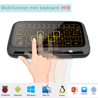 Mini H18+ Wireless Keyboard 2.4 G Portable Keyboard With Touchpad Air Mouse for Windows Android/Smart TV Linux Windows Mac