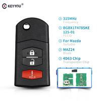 KEYYOU 315Mhz Remote Car Key BGBX1T478SKE125 01 Transponder Chip 4D63 For Mazda 3 5 2011 2015 For Mazda CX 7 CX7 2009 2012|Car Key|   -
