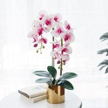 Домашний декор, Реалистичная сенсорная ваза для цветов, искусственная бабочка, Орхидея вечерние ринки, свадьбы, «сделай сам», искусственное...