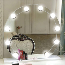 Wall Lamp 12V 10Bulbs Makeup Mirror Vanity Led Light Bulbs Hollywood Style Led Lamp Touch Switch Cosmetic Lighted Dressing Table mirror wall lamp led 5v makeup mirror vanity led light bulbs hollywood dressing table led lamp dimmable usb cosmetic lighted