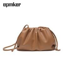 Epmker 2020 New Luxury Design Shoulder Bags for Women PU Leather Handbags Cloud