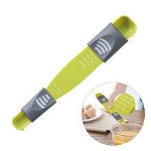 Cozinha ajustável escala 13 g/ml líquido em pó medida copo colher de medição cabeça dupla colher de medição para cozinhar tempero escala