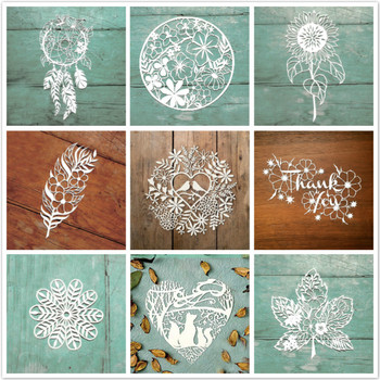 DiyArts Flower Dies Pattern Metal Cutting Dies for Card Making DIY Scrapbooking Album Decor Paper Craft Stencil Die yaminsannio deer dies metal cutting dies new 2019 for card making scrapbooking diy album decor paper craft stencil for die cut
