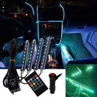 Atmosphäre LED RGB Streifen für Innen Dekoration FÜHRTE Fuß Licht Umgebungs Lampe Mit USB Wireless Remote Musik Steuerung