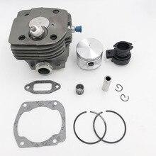 Детали двигателя бензопилы 50 мм поршень цилиндра впускной коллектор декомпрессионный клапан комплект для HUSQVARNA 365 371 372 XP 362
