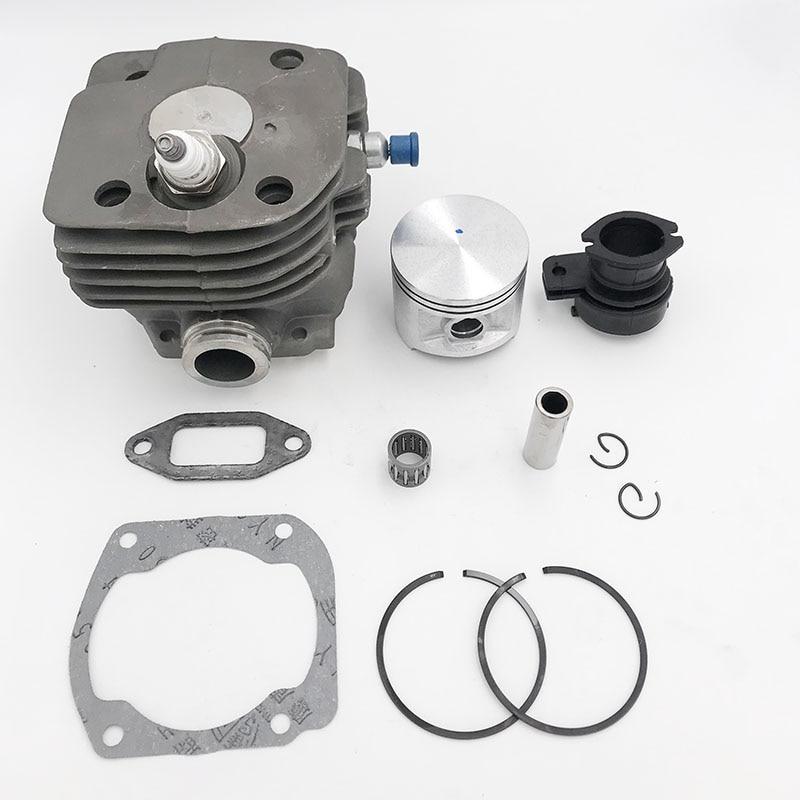 Chainsaw Engine Motor Parts 50mm Cylinder Piston Intake Manifold Decompression Valve Kit For HUSQVARNA 365 371 372 XP 362