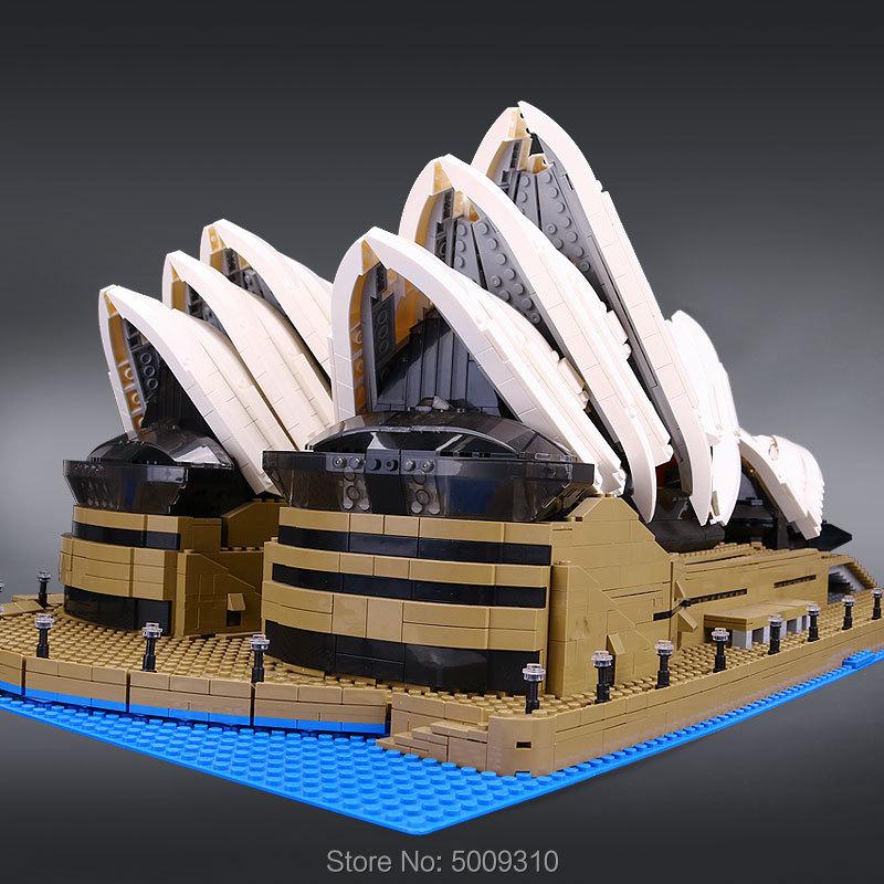 2989pcs Compatible  10234 creator Sydney Opera House Expert set building blocks bricks birthday christmas gifts toys 2